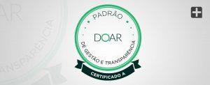 MAIS: conceito A pelo selo DOAR de Gestão e Transparência